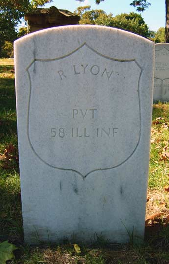 Rufus Lyon Grave at Rosehill Cemetery, Chicago